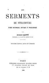 Les serments de Strasbourg: étude historique, critique et philologique
