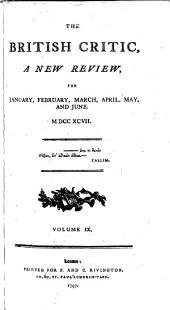 The British Critic: Volume 9