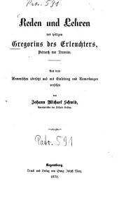 Reden und Lehren des heiligen Gregorius des Erleuchters