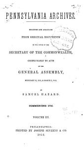 Pennsylvania Archives: Volume 3