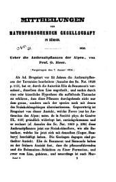 Ueber die Anthrazitpflanzen der Alpen