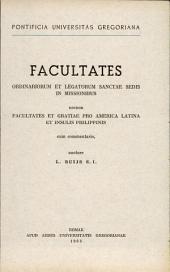 Facultates ordinariorum et legatorum sanctae sedis