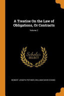 A Treatise on the Law of Obligations  Or Contracts  Volume 2 PDF