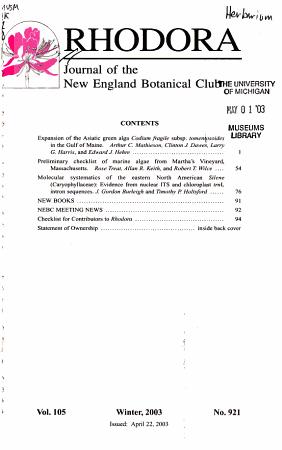 Rhodora PDF