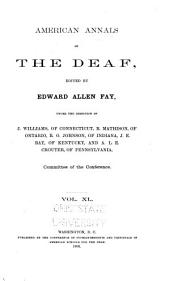 American Annals of the Deaf: Volume 40