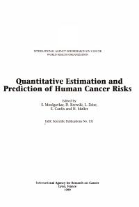 Quantitative Estimation and Prediction of Human Cancer Risks PDF