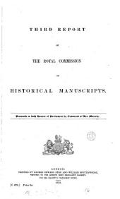 Third Report of the Royal Commission on Historical Manuscripts ...
