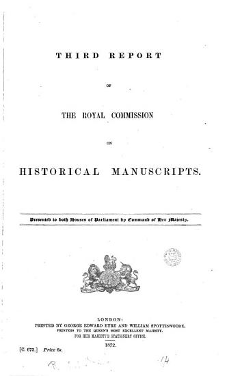 3rd Report of the Royal Commission on Historical Manuscripts PDF