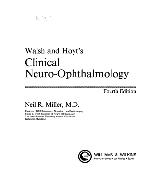 Walsh and Hoyt s Clinical Neuro ophthalmology PDF