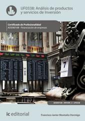 Análisis de productos y servicios de inversión. ADGN0108