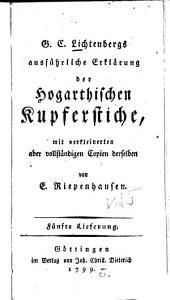 Ausführliche Erklärung der Hogarthischen Kupferstiche: Band 5