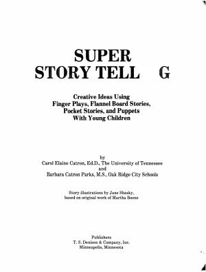 Super Story Telling PDF