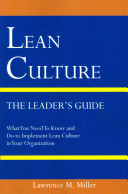 Lean Culture   The Leader s Guide