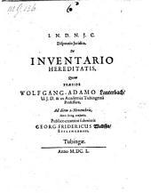 Disputatio Juridica De Inventario Hereditatis