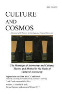 Culture and Cosmos Vol 21 1 And 2