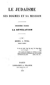 Le judaïsme: ptie. La révélation