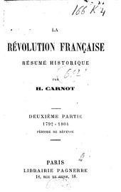 La révolution française: résumé historique, Volume2