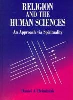 Religion and the Human Sciences PDF