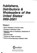 Publishers Distributors Wholesalers Of The United States Book PDF