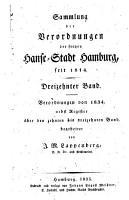 Sammlung der Verordnungen der Freyen Hansestadt Hamburg PDF