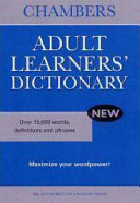 Chambers Adult Learner's Dictionary