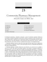 Practice of Hospital  Clinical and Community Pharmacy  1 e PDF