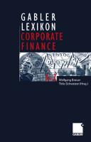 Gabler Lexikon Corporate Finance PDF