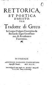 Rettorica et poetica d'Aristotele