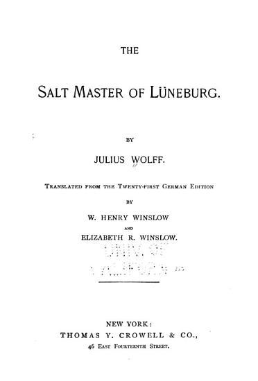 The Salt Master of L  neburg PDF