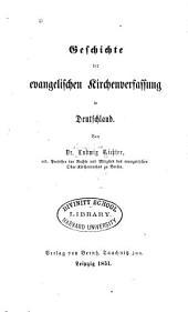 Geschichte der evangelischen Kirchenverfassung in Deutschland