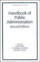 Handbook of Public Administration  Second Edition PDF