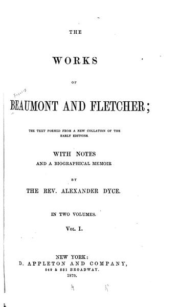 Download The Works of Beaumont and Fletcher Book