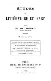 Études de littérature et d'art: Volume3
