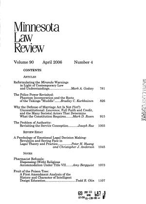 Minnesota Law Review PDF