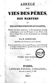 Abrégé des vies des pères et des martyrs [etc.]: avec des instructions fur les fêtes mobiles et notice biogr. de l'auteur, Volume2