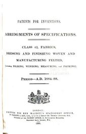Patents for Inventions. Abridgments of Specifications: Volume 7