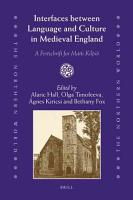Interfaces Between Language and Culture in Medieval England PDF