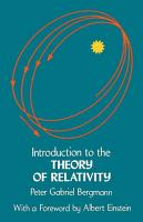 Introduction to the Theory of Relativity PDF