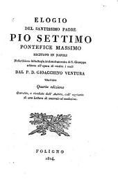 Elogio del Santissimo Padre Pio Settimo: Pontefice Massimo