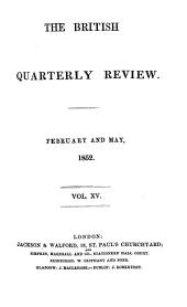 The British Quarterly Review: Volume 15