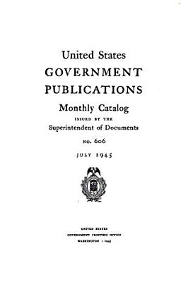 United States Government Publications Monthly Catalog PDF