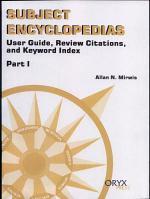 Subject Encyclopedias: User guide, review citations