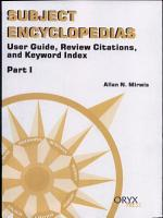 Subject Encyclopedias  User guide  review citations PDF