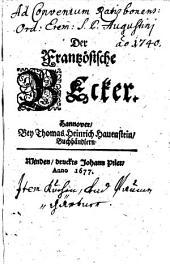 Der Frantzösische Becker