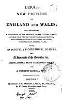 Leigh's new picture of England and Wales [ed. by T.G.B.].