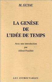 La Genèse de l'idée de Temps