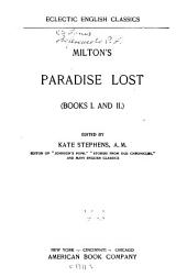 Paradise Lost: (books I. and II.)