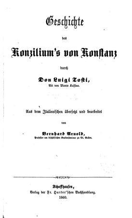 Geschichte des Konzilium s von Konstanz PDF