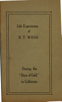 Life Experiences of N T  Wood During the  days of Gold  in California PDF