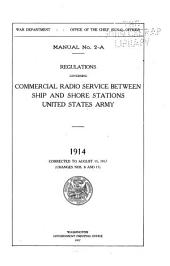 Regulations Governing Commercial Radio Service Between Ship and Shore Stations, United States Army